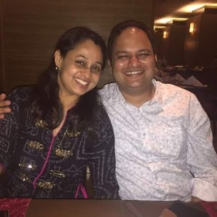 Sonalika Joshi With Her Husband