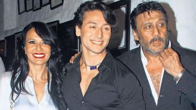 Tiger Shroff With His Father And Mother