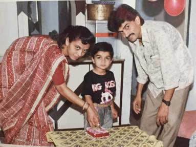 Varun Sandesh With His Father And Mother