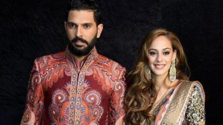 Yuvraj Singh With Hazel Keech