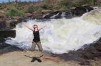 tourist enjoying at murchison falls uganda