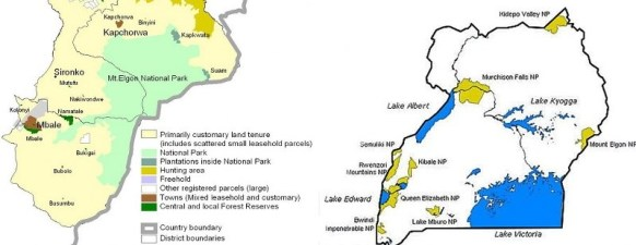 Mount Elgon National Park Uganda Map