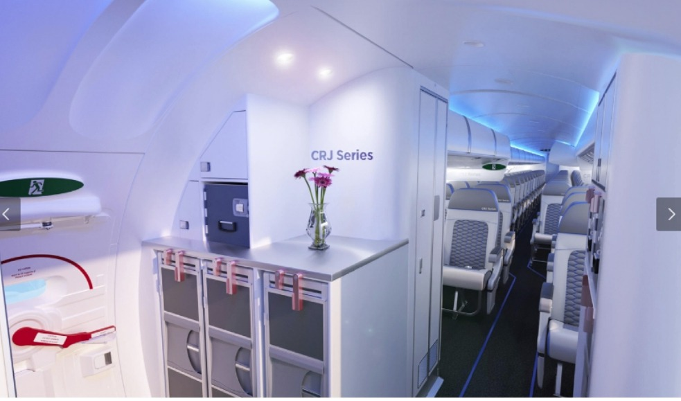 An interior view of the kind of planes to be purchased by Uganda airlines