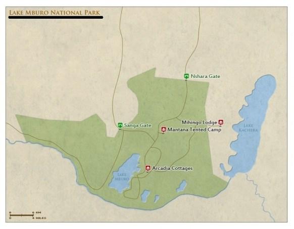 lake mburo national park map