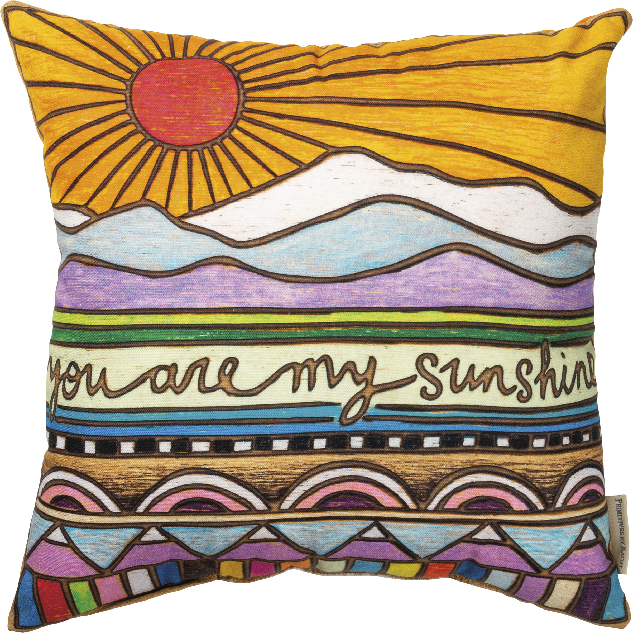 pillow you are my sunshine hand