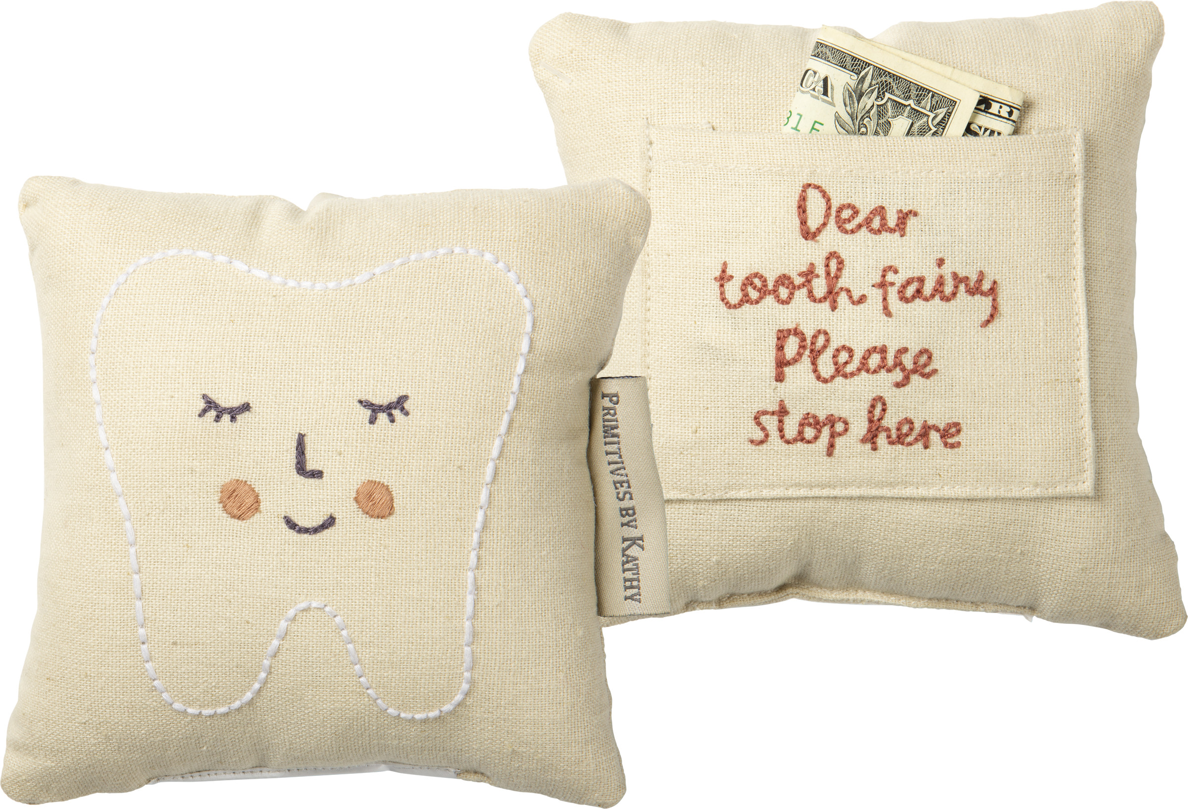 pillow tooth fairy pink baby kids