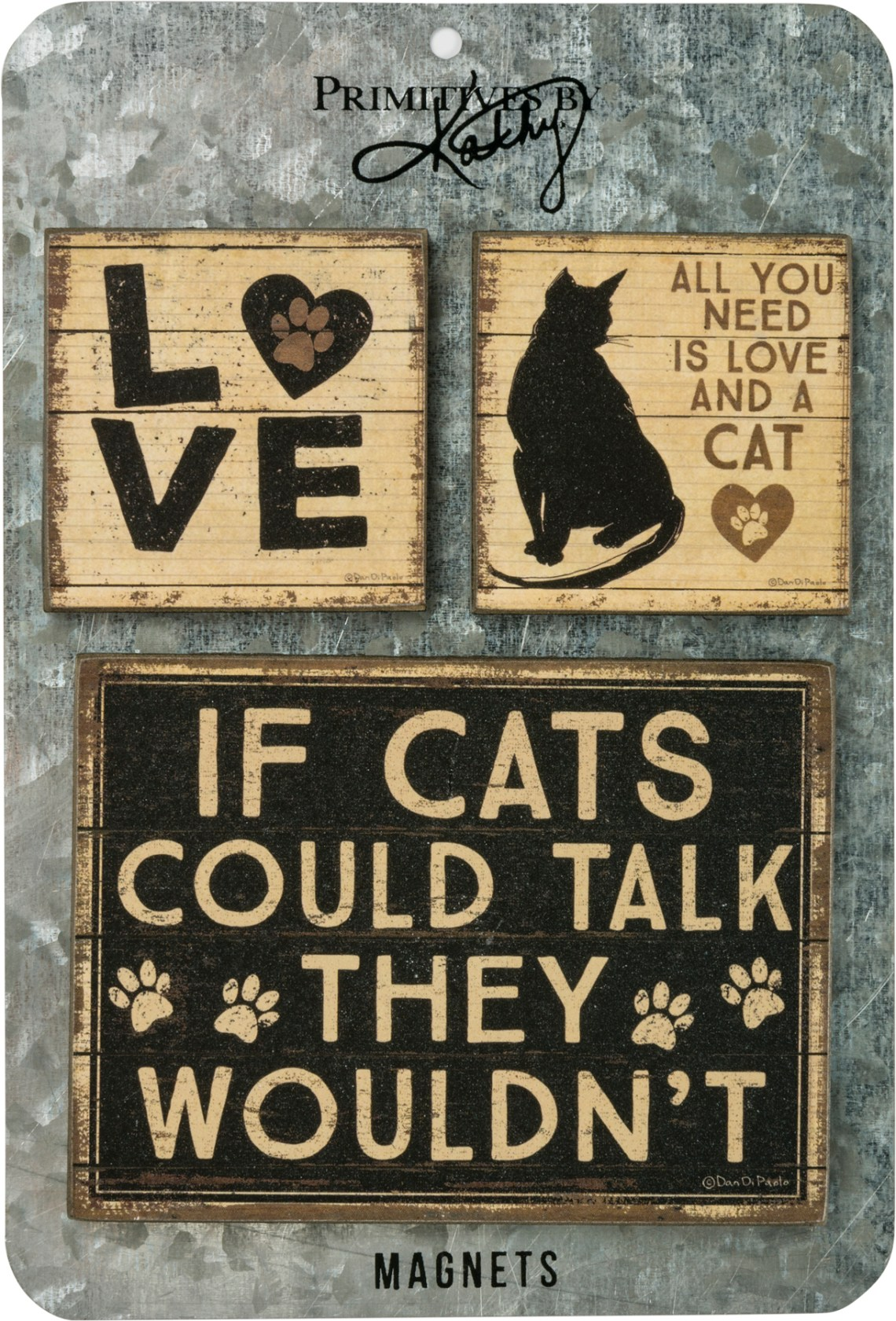 Download Magnet Set - All You Need Is Love And A Cat - Rustic ...