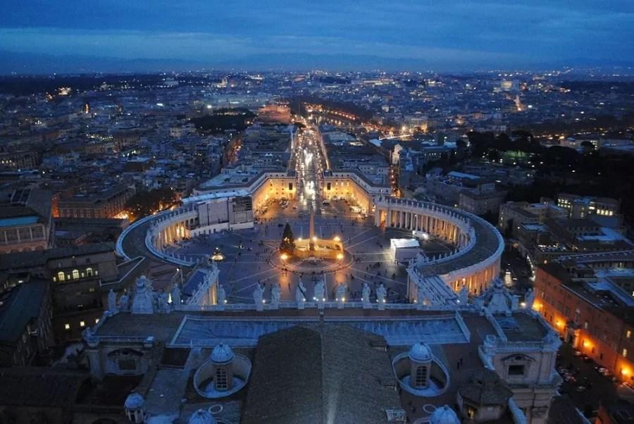 wirtualne zwiedzanie Rzymu, wirtualne zwiedzanie watykanu, wirtualne zwiedzanie rzymu i watykanu, zwiedzanie rzymu, panorama rzymu, zwiedzanie bazyliki św. Piotra, widok z kopuły bazyliki św. piotra