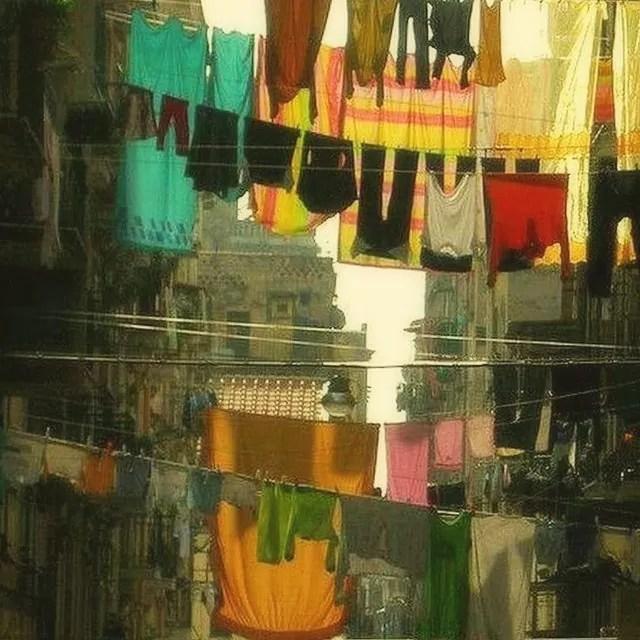 włoskie inspiracje, Neapol, Napoli, wiszące pranie, pranie we Włoszech, fenomen włoskiego prania