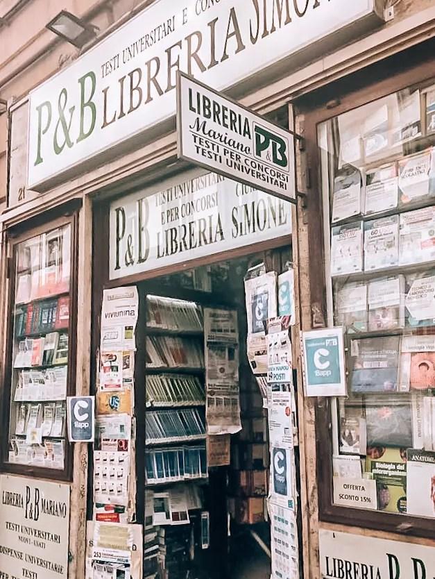 Księgarnia Lenu, Neapol, księgarnia w Neapolu, książki o Neapolu