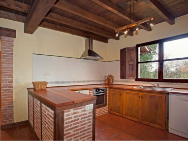 Küche in Ferienhaus für 10 Personen