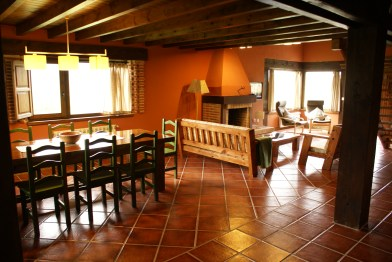 Eatingroom for 10 people in the holiday house in Boquerizo