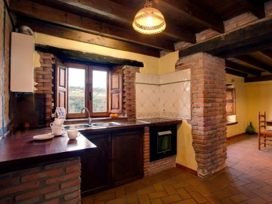 Kitchen in the holiday house for 6 people in Camijanes
