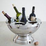 Table Desk Side Bucket Holder Wine Champagne Ice Bucket Bottle Stand