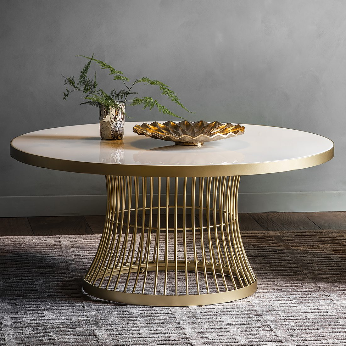 marble topped round coffee table gold
