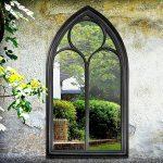 Outdoor Black Chapel Mirror Primrose Plum