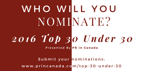 Nominate Top 30 Under 30