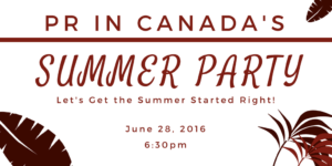 PR In Canada - Summer Party