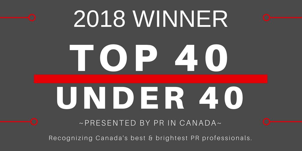 2018 Top 40 Under 40 Winner