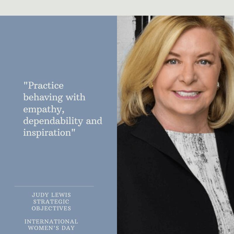 Judy Lewis - Strategic Objectives