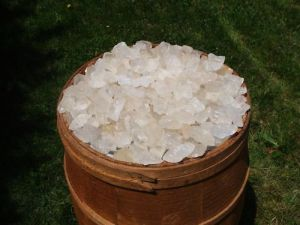 Girasol Opal healing quartz crystal