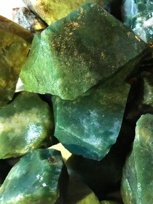 Green jasper healing stone