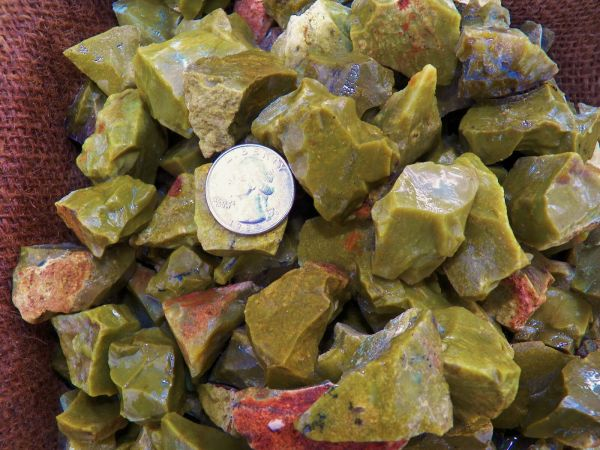 Green Opal crystals for sale