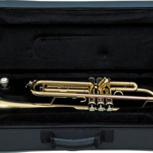 student series trumpet gold yuellow brass with case