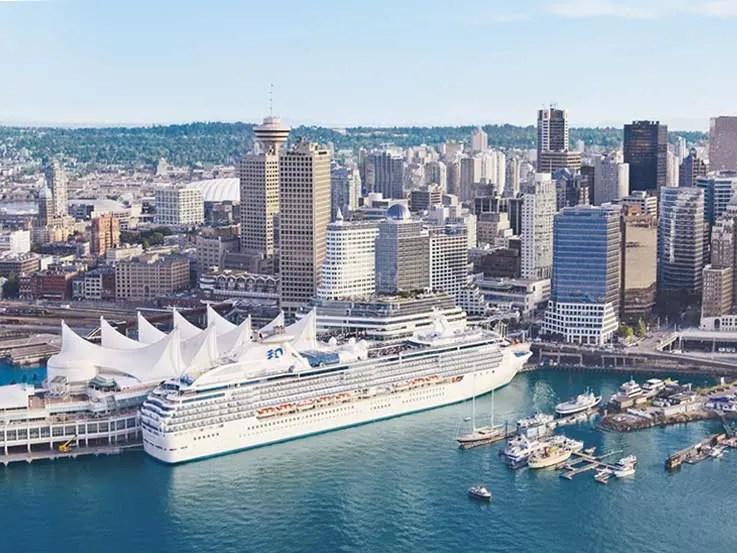 Princess cruise ship in beautiful Vancouver, B.C.