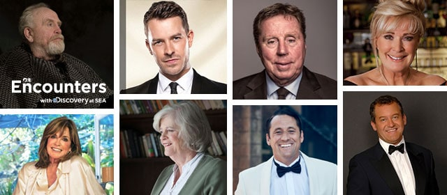 Encounters with Discovery at SEA, featuring eight of the guest speakers