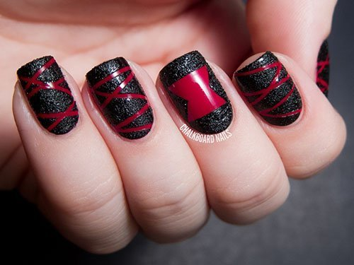Black Widow Nail Art