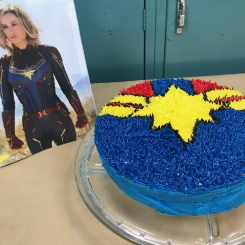 Captain Marvel Shag Rug Cake