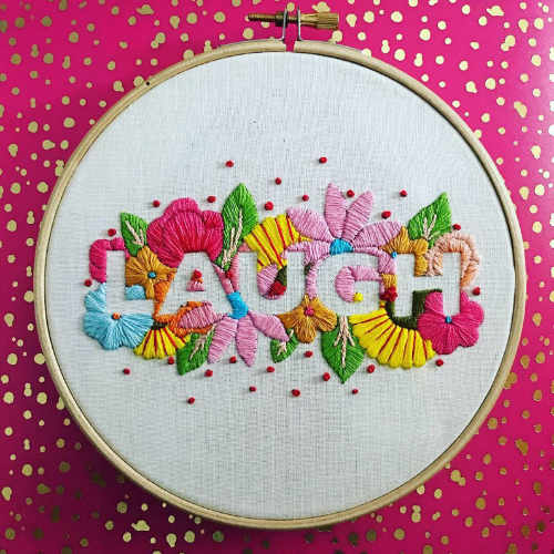 Laugh Embroidery Kit for Beginners