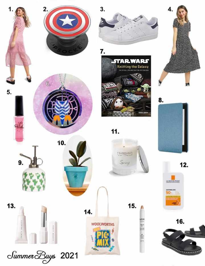 Summer Shopping List 2021