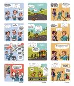 <h5>Absentéïsme</h5><p>Pour le Conseil Général de l'Eure. scénarios et dessins : PrincessH, 2013.</p>