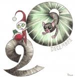<h5>20 décembre 2015 : elfe & chat</h5><p>Carnet de croquis, décembre 2015</p>