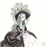 <h5>Mme Vigée-Lebrun</h5><p>Inktober 2015 - Dessin à l'encre + bic 4 couleurs</p>