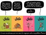 """<h5>Les 4 albums du """"Journal de Julie""""</h5><p>Collection BD Kids, éditions Milan. BD pré-publiée mensuellement dans le magazine Julie, Milan Presse.</p>"""