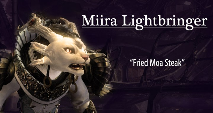 Miira Lightbringer in Fried Moa Steak, a Guild Wars 2 fanfic