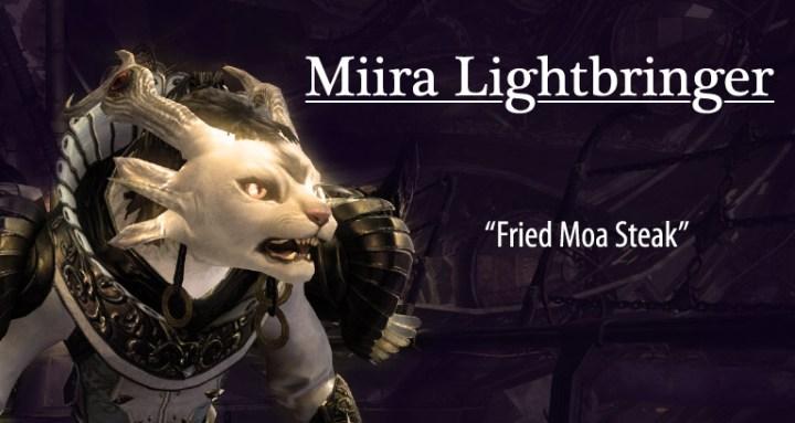 Miira Lightbringer in Fried Moa Steak, a Guild Wars 2 fanfic
