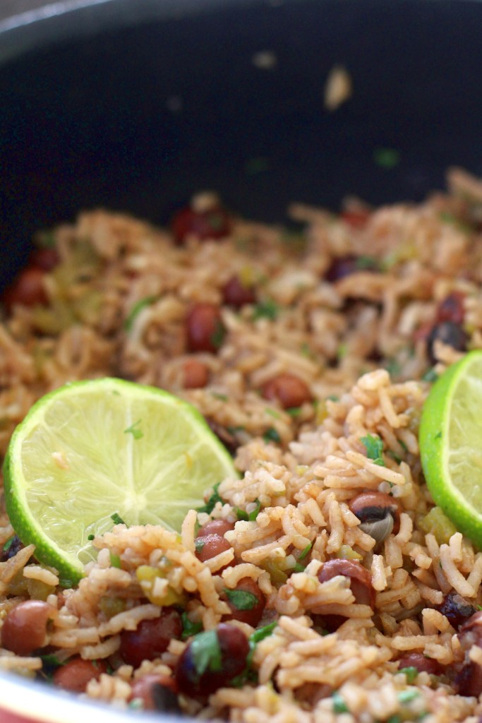 One pot cilantro lime rice with nyimo