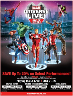 Marvel Universe Discount Tickets