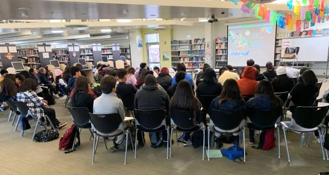 Participants in an online seminar led by Ruha Benjamin