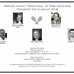 Mercer County Tennis Hall of Fame Induction 2016