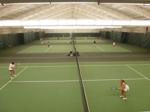 Main Courts at Princeton Racquet Club