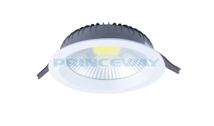 recessed dimmable 8 inch 30 watt high lumens cob led ceiling downlight fixture