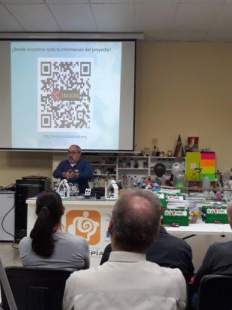 Federico Coca en un momento de la presentación