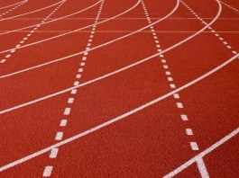 An abstract image of a running track.