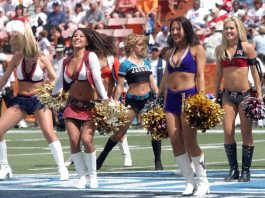 Photo of cheerleaders performing at the 2006 Pro Bowl