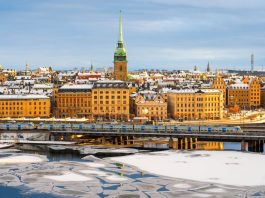 Photograph of buildings in Stockholm, Sweden